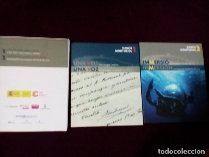 Libros de segunda mano: Narcis monturiol, 2 libros + CD + funda exterior museo Emporda texto castellano y catalán - Foto 3 - 143224634