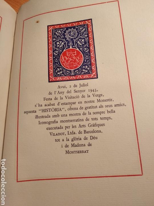 Libros de segunda mano: HISTORIA DE MONTSERRAT. EJEMPLAR Nº 18 . ALBAREDA ANSELM. M. DE MONTSERRAT. 1945. - Foto 15 - 143226973