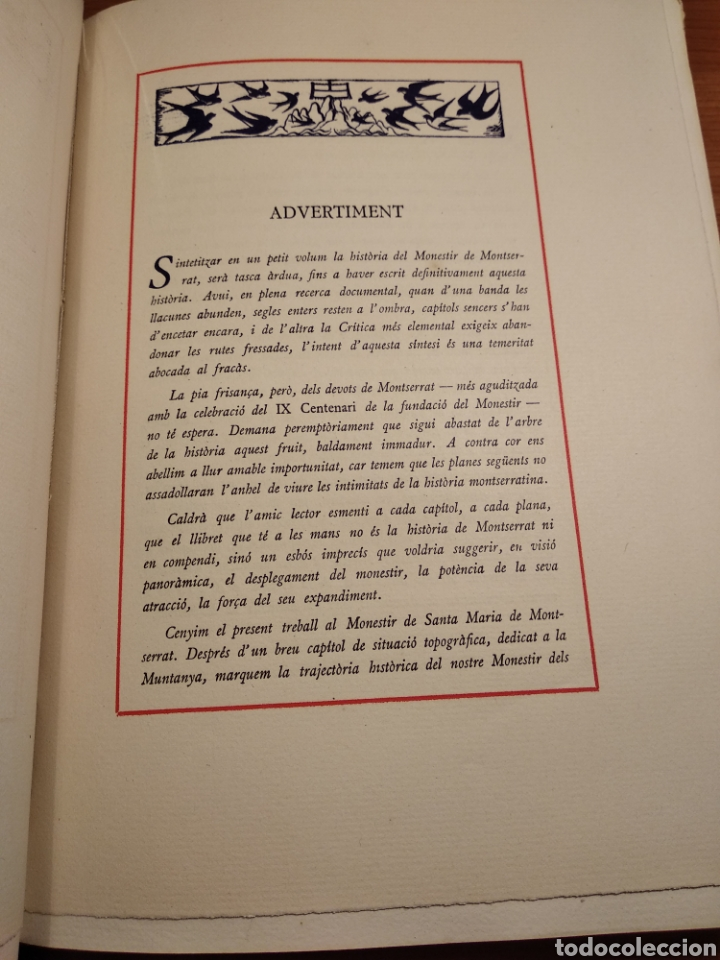 Libros de segunda mano: HISTORIA DE MONTSERRAT. EJEMPLAR Nº 18 . ALBAREDA ANSELM. M. DE MONTSERRAT. 1945. - Foto 5 - 143226973