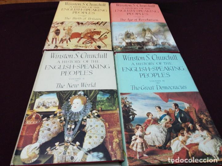 WINSTON S. CHURCHILL, A HISTORY OF THE ENGLISH-SPEAKING PEOPLES, COMPLETE 4 VOLUME (Libros de Segunda Mano - Historia Moderna)