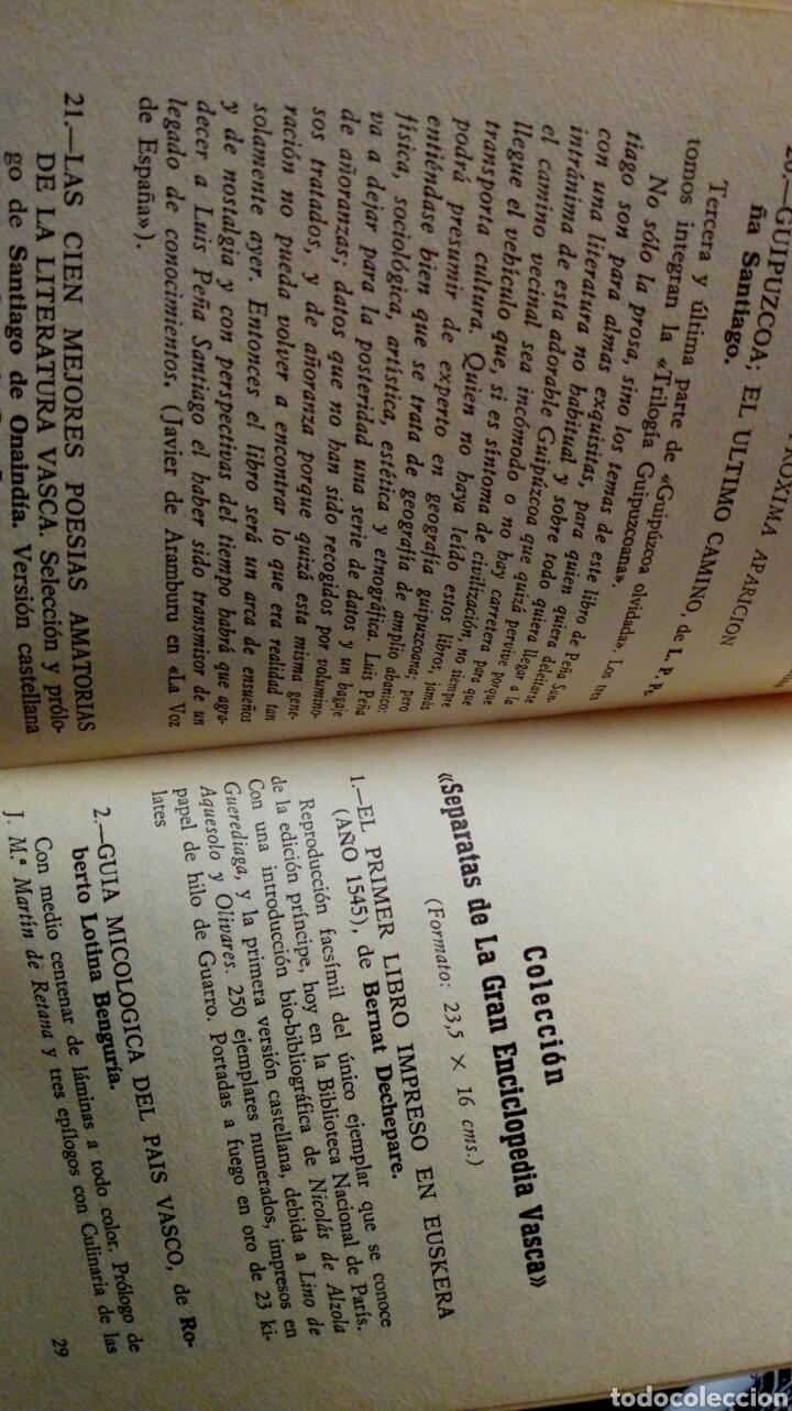 Libros de segunda mano: 100 LIBROS VASCOS FUNDAMENTALES Y DICCIONARIO DE NOMBRES EUSKERICOS (Bilbao, 1970) - Foto 2 - 143694840