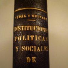 Libros de segunda mano: ANDORRA. INSTITUCIONES POLÍTICAS Y SOCIALES DE ANDORRA. C.S.E.C. 1949. Lote 143878286