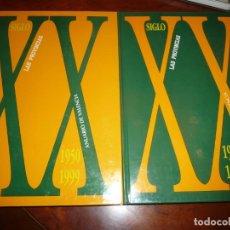 Libros de segunda mano: LAS PROVINCIAS SIGLO XX, ANUARIO DE VALENCIA. 2 TOMOS. 1900-1949 /1950-1999, CARTON 30X22. Lote 150197462