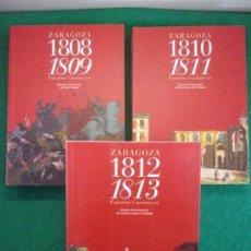 Libros de segunda mano: ZARAGOZA. 1808-1809 + 1810-1811 + 1812-1813 / FAUSTINO CASAMAYOR / 2008. INST. FERNANDO EL CATÓLICO. Lote 151412130