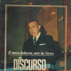 Libros de segunda mano: EL NUEVO GOBIERNO, ANTE LAS CORTES: DISCURSO DE CARLOS ARIAS. CARLOS ARIAS. Lote 152856250