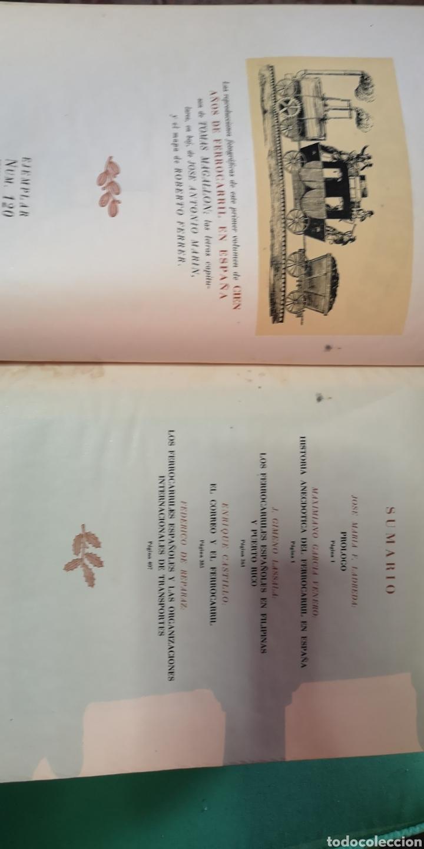 Libros de segunda mano: 4 tomos 100 años de ferrocarril en España - Foto 2 - 153825658
