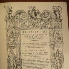 Libros de segunda mano: DECADA PRIMERA DE LA HISTORIA DE VALENCIA, GASPAR ESCOLANO, FACSIMIL OBRA 1611,COMPLETA, VI TOMOS.. Lote 154282242