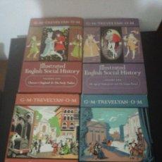 Libros de segunda mano: G. M. TREVELYAN. O. M, ILLUSTRATED ENGLISH SOCIAL HISTORY COMPLET 4 VOLUMENES. Lote 155187574