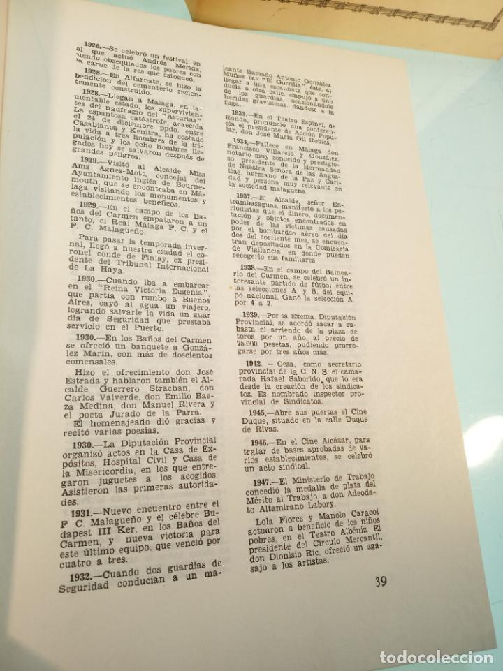 Libros de segunda mano: Efemérides Malagueñas. José Luis Estrada y Segalerva - 4 tomos. Málaga. 1970. Firmado y dedicado. - Foto 5 - 156005258