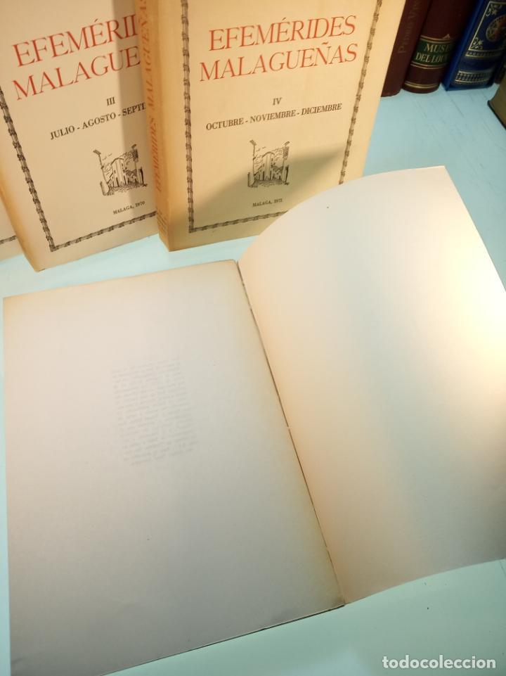 Libros de segunda mano: Efemérides Malagueñas. José Luis Estrada y Segalerva - 4 tomos. Málaga. 1970. Firmado y dedicado. - Foto 7 - 156005258