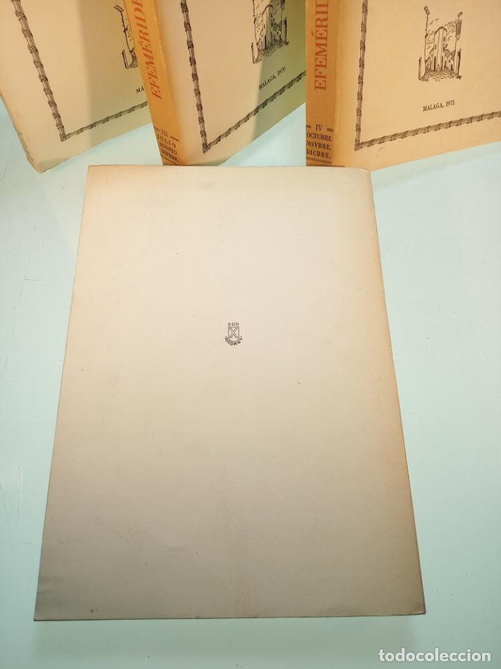 Libros de segunda mano: Efemérides Malagueñas. José Luis Estrada y Segalerva - 4 tomos. Málaga. 1970. Firmado y dedicado. - Foto 8 - 156005258
