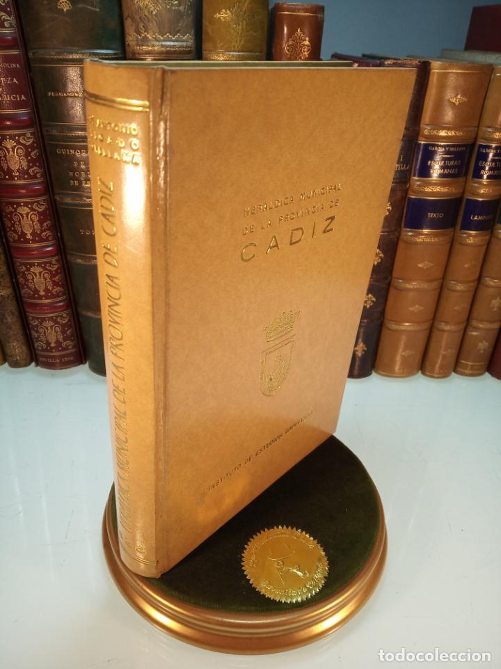 HERÁLDICA MUNICIPAL DE LA PROVINCIA DE CÁDIZ. JOSE ANTONIO DELGADO. INST. DE ESTUDIOS GADITANOS.1969 (Libros de Segunda Mano - Historia Moderna)