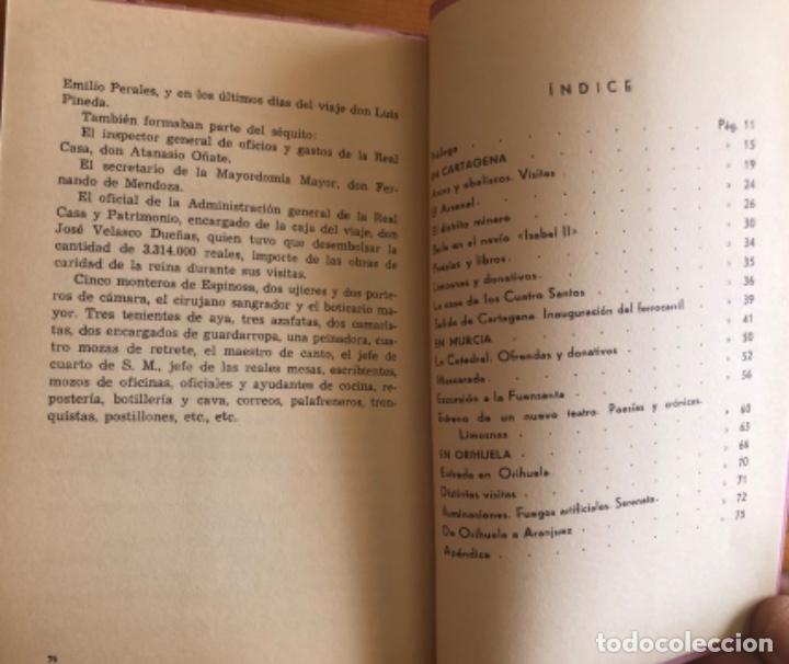 Libros de segunda mano: CARTAGENA- MURCIA- ORIHUELA- VIAJE DE ISABEL II- FERNANDO COS GAYON- 1.969 - Foto 5 - 278885113