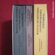 Libros de segunda mano: MANUAL DE HISTORIA CONTEMPORANEA UNIVERSAL-XIXIREI PAREDES, CARLOS.3 TOMOS.. Lote 156661042
