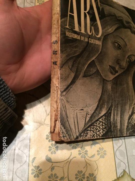 Libros de segunda mano: Antiguo libro ARS Historia de la cultura por E. Bagué y J. Vicens año 1958 - Foto 2 - 157961386
