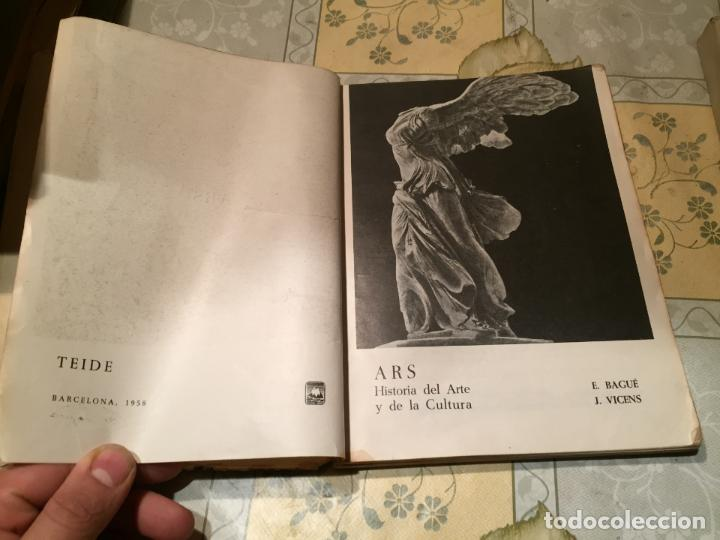 Libros de segunda mano: Antiguo libro ARS Historia de la cultura por E. Bagué y J. Vicens año 1958 - Foto 3 - 157961386