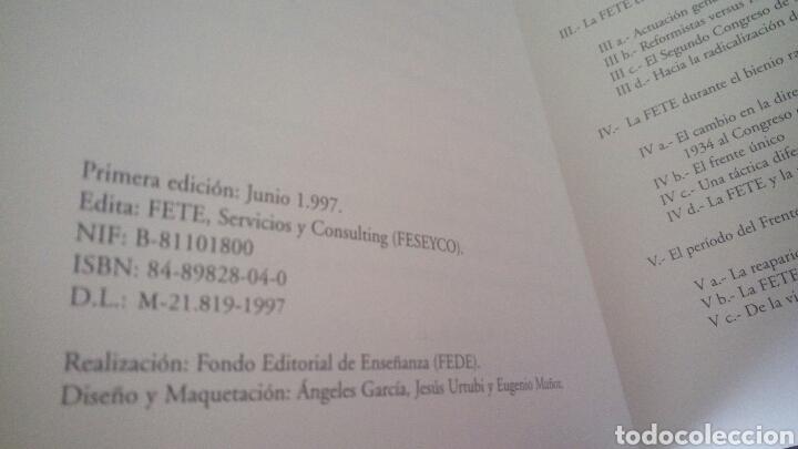 Libros de segunda mano: CTC - 1ª EDICION - HISTORIA DE LA FETE 1909 - 1936 - FONDO EDITORIAL DE ENSEÑANZA - LUIS MARTIN - Foto 6 - 158857366