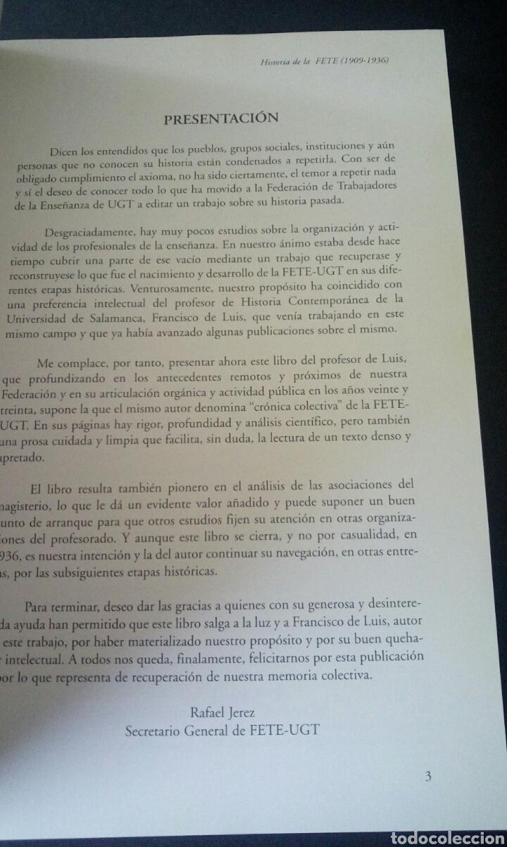 Libros de segunda mano: CTC - 1ª EDICION - HISTORIA DE LA FETE 1909 - 1936 - FONDO EDITORIAL DE ENSEÑANZA - LUIS MARTIN - Foto 9 - 158857366