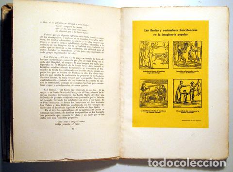 Libros de segunda mano: ALMERICH, Luis - TRADICIONES, FIESTAS Y COSTUMBRES POPULARES DE BARCELONA - Barcelona 1944 - Ilustra - Foto 4 - 159332265