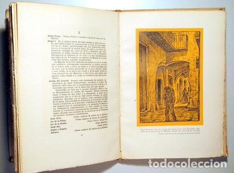 Libros de segunda mano: VALLESCAS, Antonio - LAS CALLES DE BARCELONA DESAPARECIDAS - Barcelona 1945 - Ilustrado - Papel de h - Foto 2 - 159332269