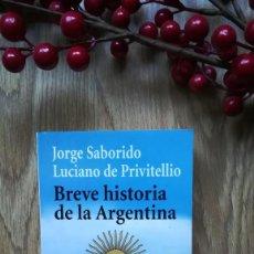 Libros de segunda mano: BREVE HISTORIA DE LA ARGENTINA. Lote 159903102
