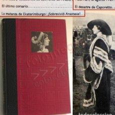 Libros de segunda mano: GRANDES ENIGMAS DE LA PRIMERA GUERRA MUNDIAL LIBRO HISTORIA - MATA-HARI LAWRENCE ARABIA ANASTASIA 1ª. Lote 160215170