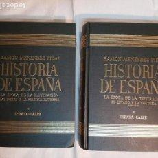 Libros de segunda mano: HISTORIA DE ESPAÑA DE RAMÓN MENÉNDEZ PIDAL, TOMO XXXI (I, II)LA ÉPOCA DE LA ILUSTRACIÓN ESPASA-CALPE. Lote 160465118