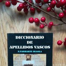 Libros de segunda mano: DICCIONARIO DE APELLIDOS VASCOS.. Lote 160471142