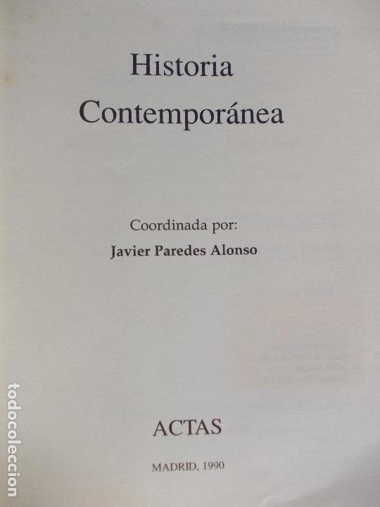 Libros de segunda mano: HISTORIA CONTEMPORANEA JAVIER PAREDES - Foto 2 - 161102654