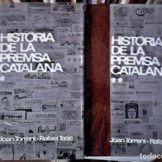 Libros de segunda mano: JOAN TORRENT I RAFAEL TASIS - HISTÒRIA DE LA PREMSA CATALANA (2 VOL) CATALÁN. Lote 162608106