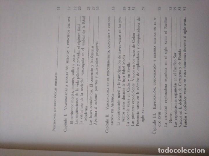Libros de segunda mano: Vascongadas y América - Ruiz de Azúa, Estíbaliz 1992 Tema Vasco Fundación Mapfre - Foto 2 - 162788522