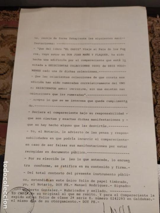 Libros de segunda mano: EL OASIS - VIAJE AL PAÍS DE LOS FUEROS - JUAN MAÑE Y FLAQUER 6 TOMOS COMPLETA EUSKADI NAVARRA - Foto 11 - 164937202