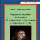 Libros de segunda mano: EMPRESARIOS ESPAÑOLES EN EL PROCESO DE INDEPENDENCIA NORTEAMERICANA. LA CASA GARDOQUI DE BILBAO. Lote 165031774