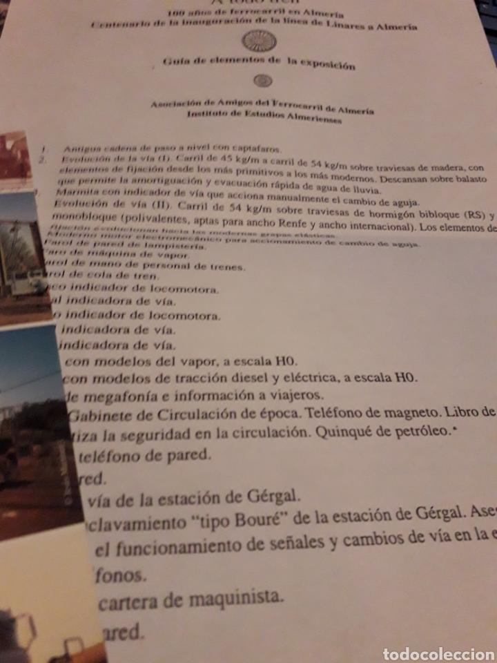 Libros de segunda mano: A to-do tren 100 años de ferrocarril energy Almeria - Foto 3 - 166453989