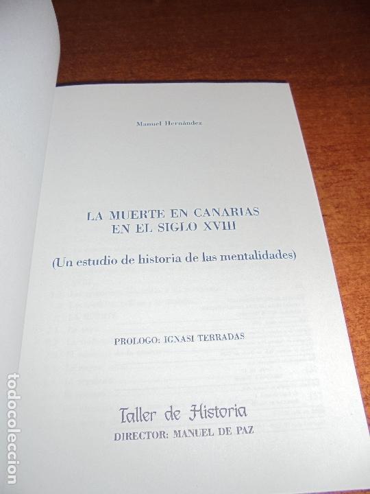 La Muerte En Canarias En El Siglo Xviii Un Estudio De Historia De Las Mentalidades Hernandez M