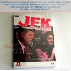 Libros de segunda mano: 2 DVD PRECINTADO DOCUMENTAL JFK 3 DISPAROS QUE CAMBIARON AMÉRICA - MISTERIO HISTORIA EEUU - NO LIBRO. Lote 168372772