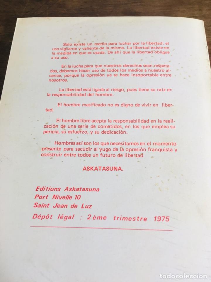 Libros de segunda mano: LA AGONÍA DEL FRANQUISMO LIBRO ANDONI UGARANA LARRUN EDICIONES ASKATASUNA 1975 - Foto 6 - 168377010