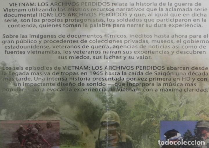 Libros de segunda mano: 2 DVD PRECINTADO DOCUMENTAL VIETNAM LOS ARCHIVOS PERDIDOS GUERRA HISTORIA DE EEUU EJÉRCITO -NO LIBRO - Foto 2 - 168380876