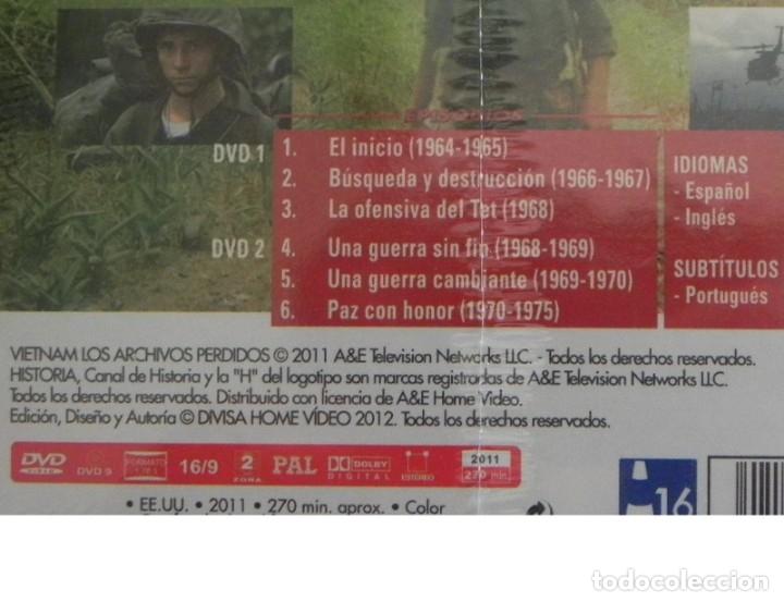 Libros de segunda mano: 2 DVD PRECINTADO DOCUMENTAL VIETNAM LOS ARCHIVOS PERDIDOS GUERRA HISTORIA DE EEUU EJÉRCITO -NO LIBRO - Foto 3 - 168380876