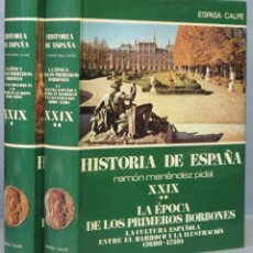 Libros de segunda mano: LA EPOCA DE LOS PRIMEROS BORBONES. MENENDEZ PIDAL. XXIX. 2 TOMOS. Lote 168454896