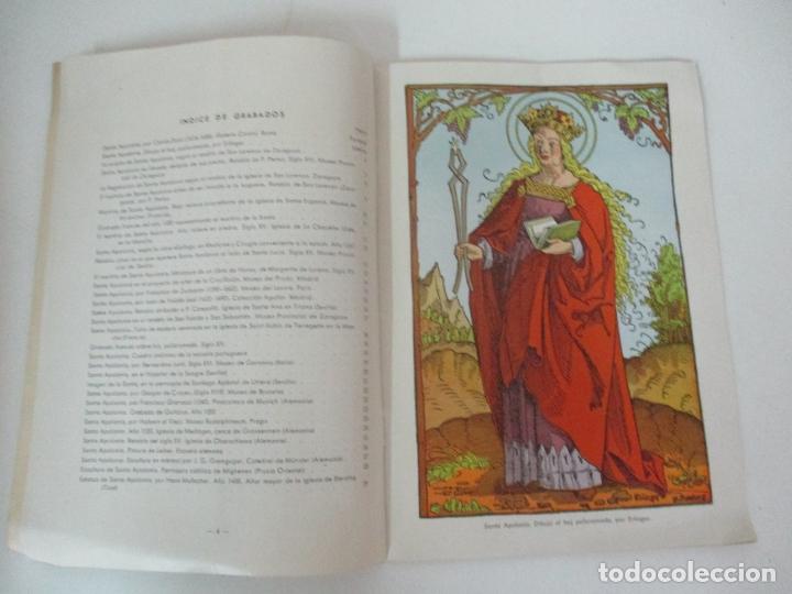 Libros de segunda mano: Santa Apolonia Patrona de los Dentistas - Dr R. Arqués - Tip Catalana - Año 1945 - Foto 4 - 169000200