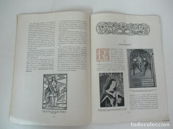 Libros de segunda mano: Santa Apolonia Patrona de los Dentistas - Dr R. Arqués - Tip Catalana - Año 1945 - Foto 6 - 169000200