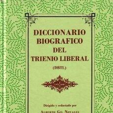 Libros de segunda mano: DICCIONARIO BIOGRÁFICO DEL TRIENIO LIBERAL - ANTONIO GIL NOVALES - EDICIONES EL MUSEO UNIVERSAL. Lote 170345432