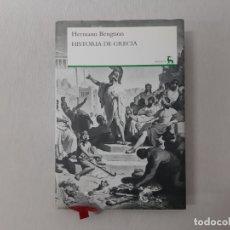 Libros de segunda mano: HISTORIA DE GRECIA POR HERMANN BENGTSON (2008) - BENGTSON, HERMANN. Lote 171555638