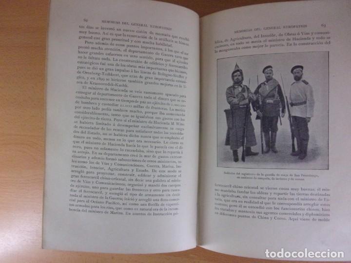 Libros de segunda mano: MEMORIAS DEL GENERAL KUROPATKIN. GUERRA RUSO-JAPONESA 1904-1905 / MONTANER Y SIMÓN. 1909. - Foto 4 - 171669834
