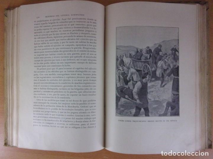 Libros de segunda mano: MEMORIAS DEL GENERAL KUROPATKIN. GUERRA RUSO-JAPONESA 1904-1905 / MONTANER Y SIMÓN. 1909. - Foto 5 - 171669834
