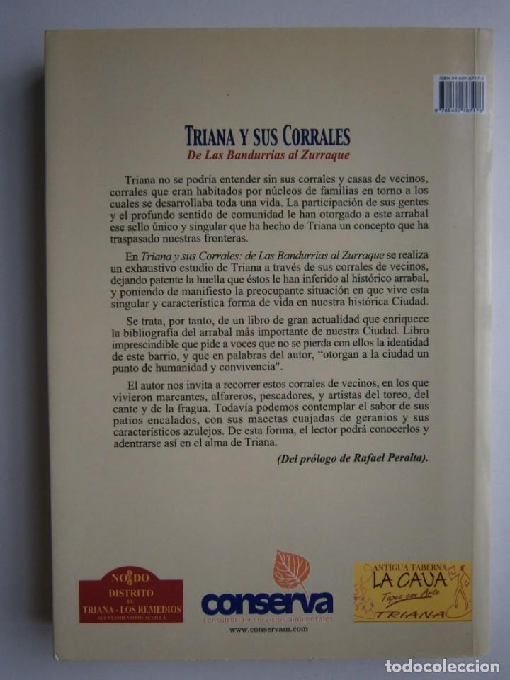 Libros de segunda mano: TRIANA Y SUS CORRALES DE LAS BANDURRIAS AL ZURRAQUE Juan Martin Bermudez 2002 - Foto 4 - 172374103