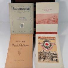 Libros de segunda mano: LOTE DE 4 EJEMPLARES DE TARRASA. VV. AA. VARIAS EDITORIALES. 1944/1948.. Lote 172621423