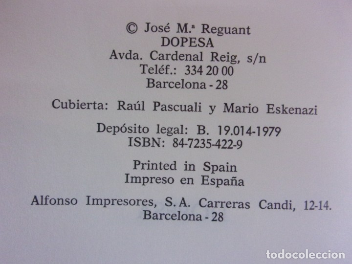 Libros de segunda mano: MARCELINO MASSANA ¿TERRORISMO O RESISTENCIA? / JOSÉ Mª REGUANT / 1979. DOPESA - Foto 2 - 172716204