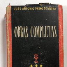 Libros de segunda mano: OBRAS COMPLETAS. JOSE ANTONIO PRIMO DE RIVERA. MADRID, 1945. PAGINAS: 1027. Lote 218940445